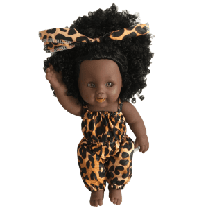 beautiful African doll dressed in wax